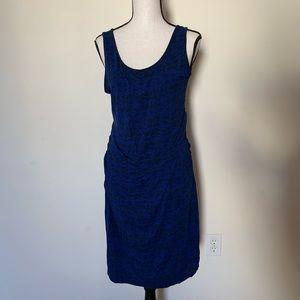 Liz Lange Blue Fitted Maternity Dress